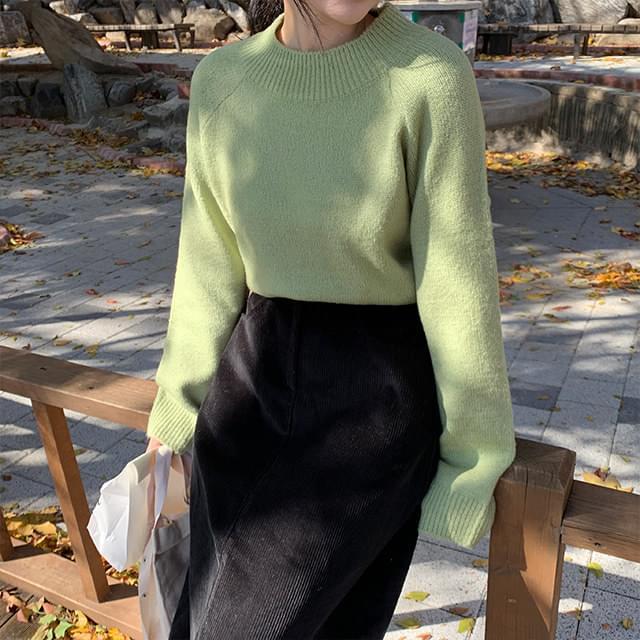 Reversible half-polar knit
