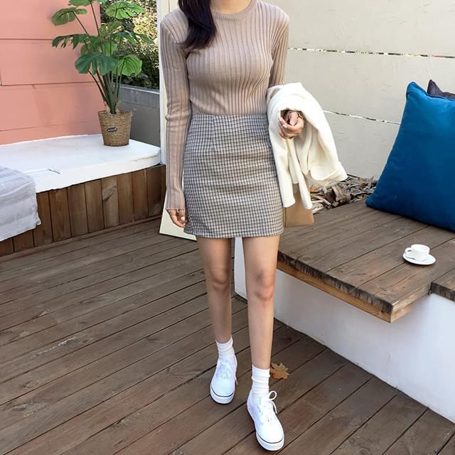 Force Mini Check Skirt