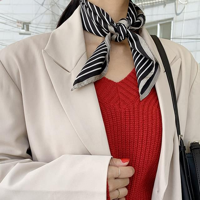 Celline striped scarf