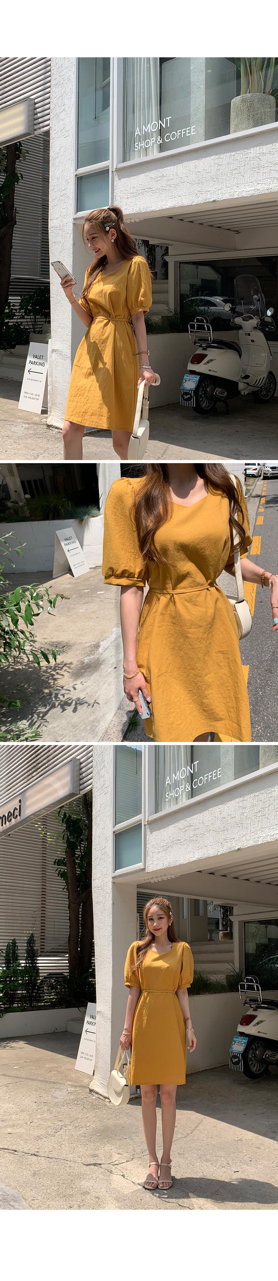 I love you linen midi dress