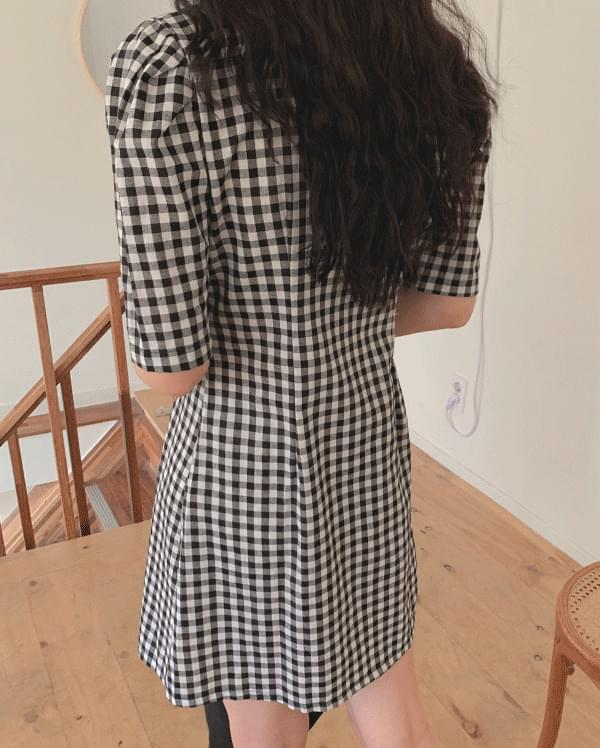 #Any place Big Cara Double Check Dress