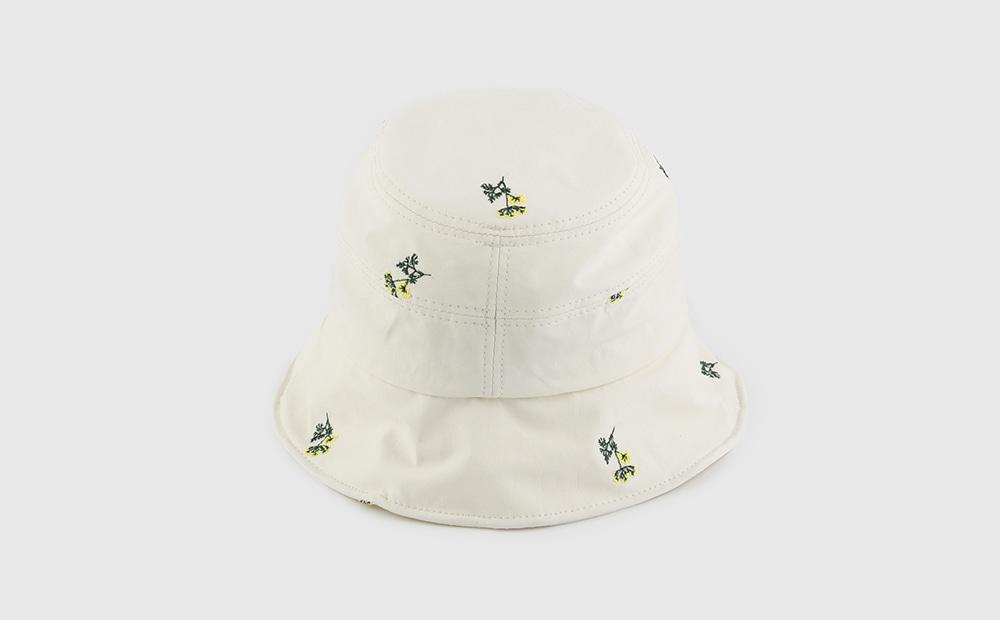 Flower cotton bucket hat