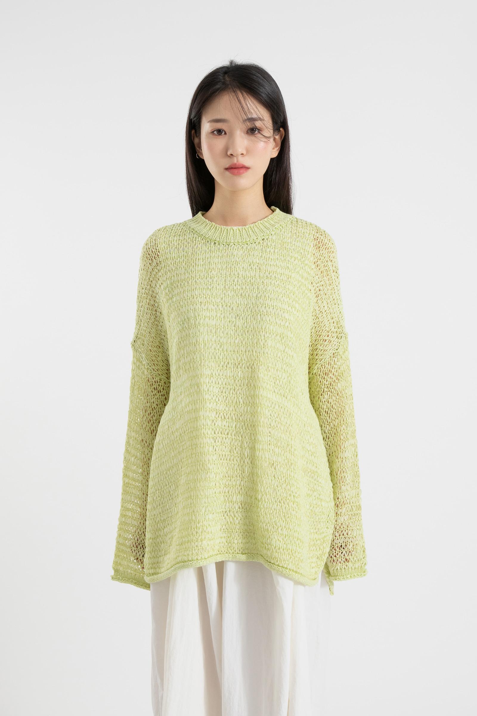 Palette over round neck knit