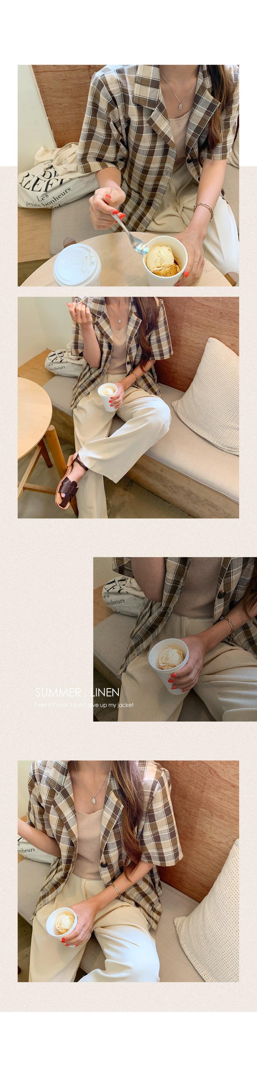Loel wide long slacks banding trousers
