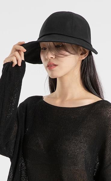 Simple Velcro Bucket Hat