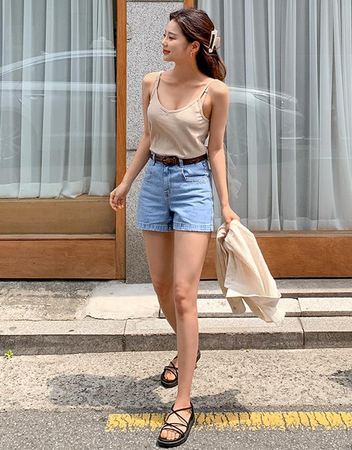 韓國空運 - Crayon denim shorts 短褲