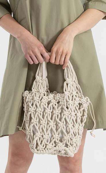 Pocket net pouch tote bag