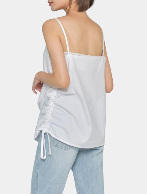 Shade shirring sleeveless