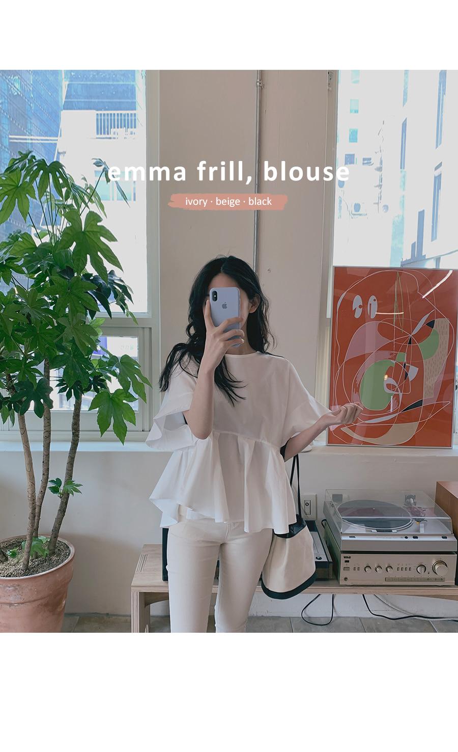 Emma frill blouse
