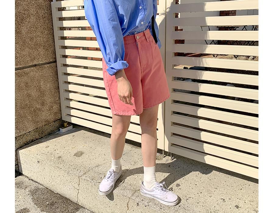 Mellow cotton half pants