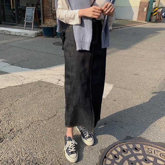 Over dough long skirt