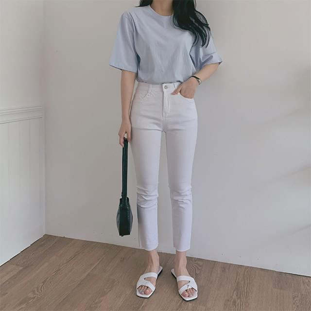 Cotton span skinny