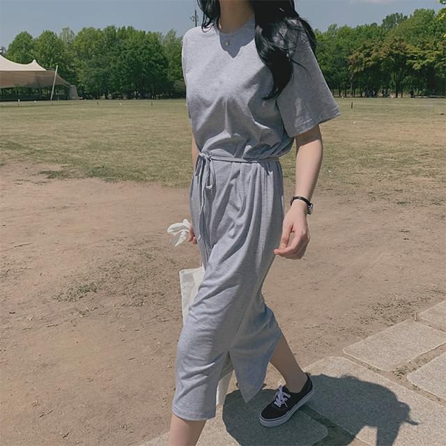 Strap cotton dress