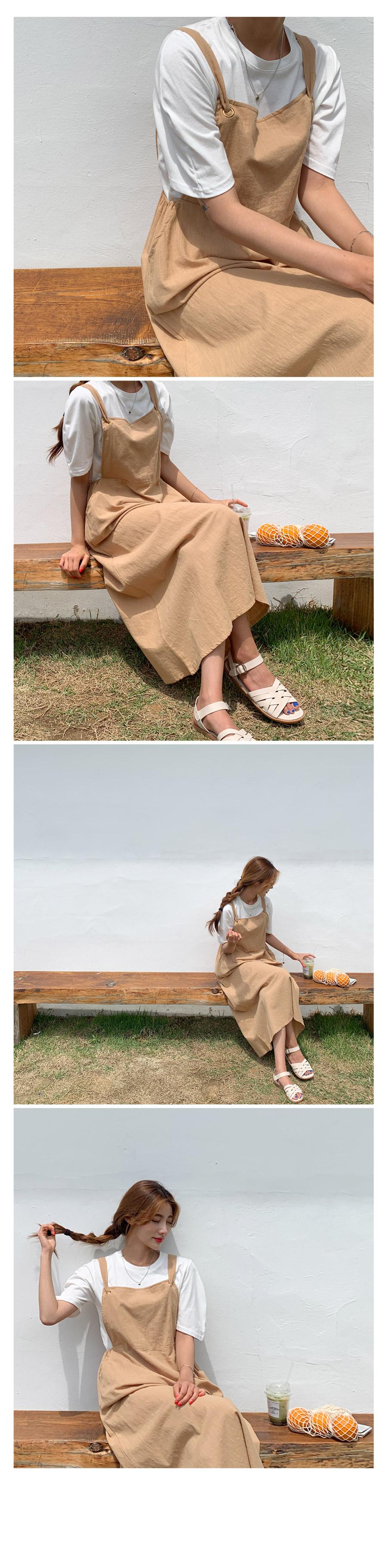 Joy Linen Mood Suspender Long Dress