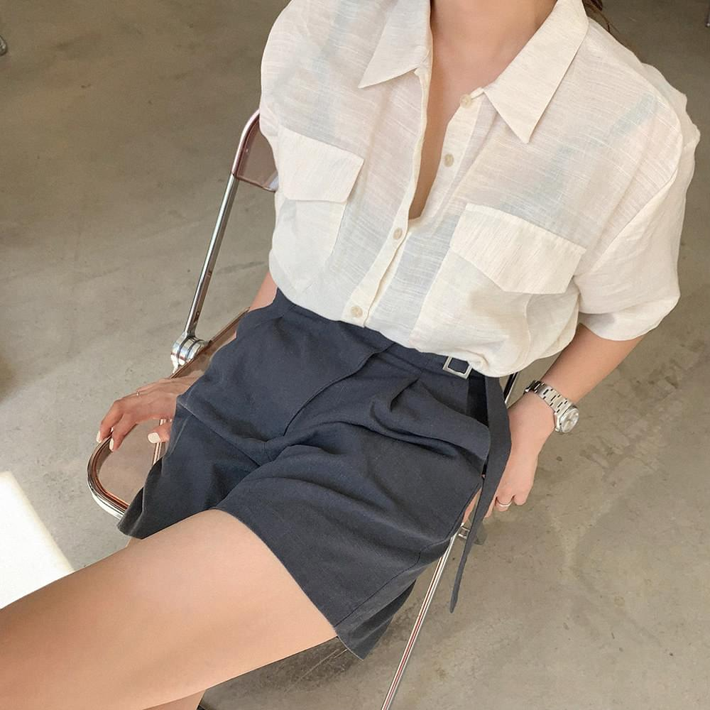 Linen pocket shirt