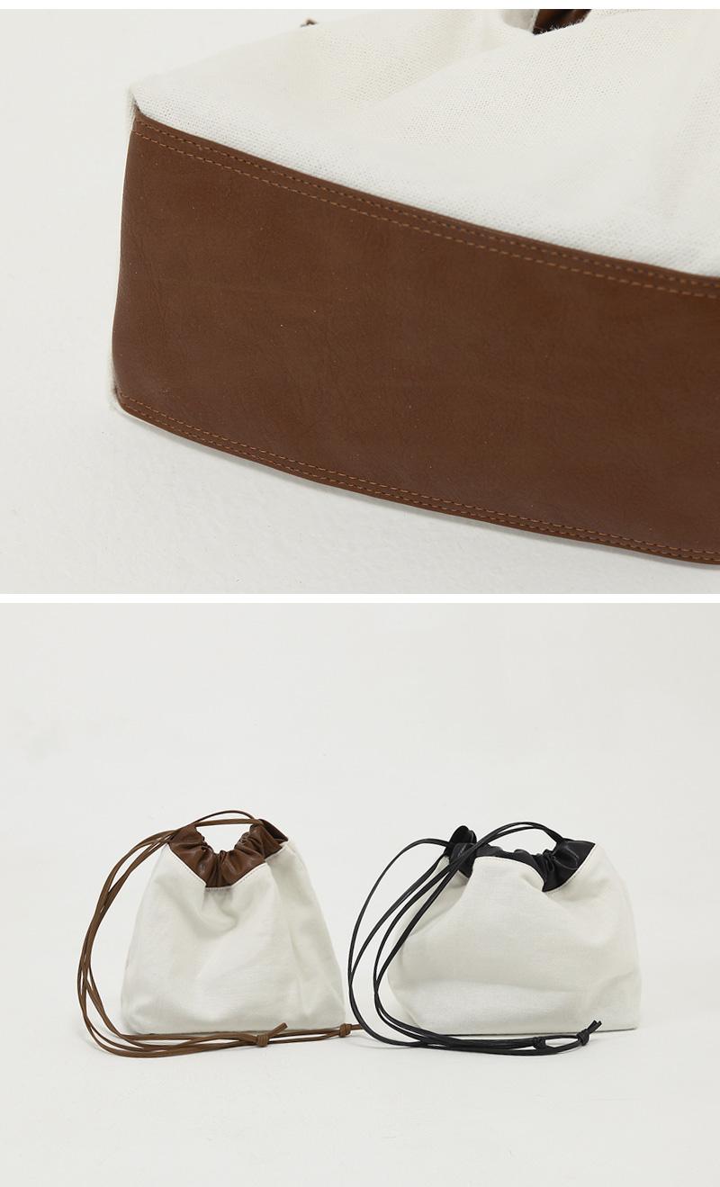 Leather Color Bucket Eco Bag