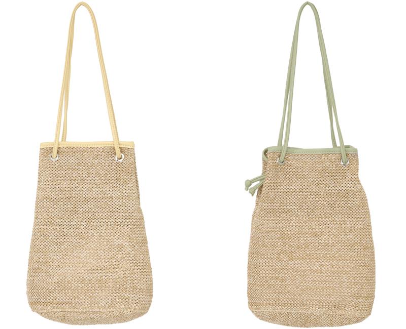 Maldives raffia shoulder bucket bag