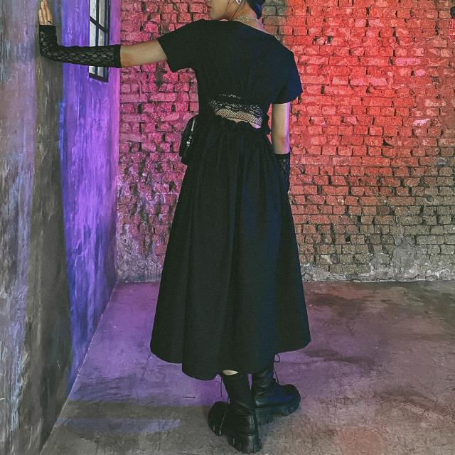 Backstring Long Dress ワンピース