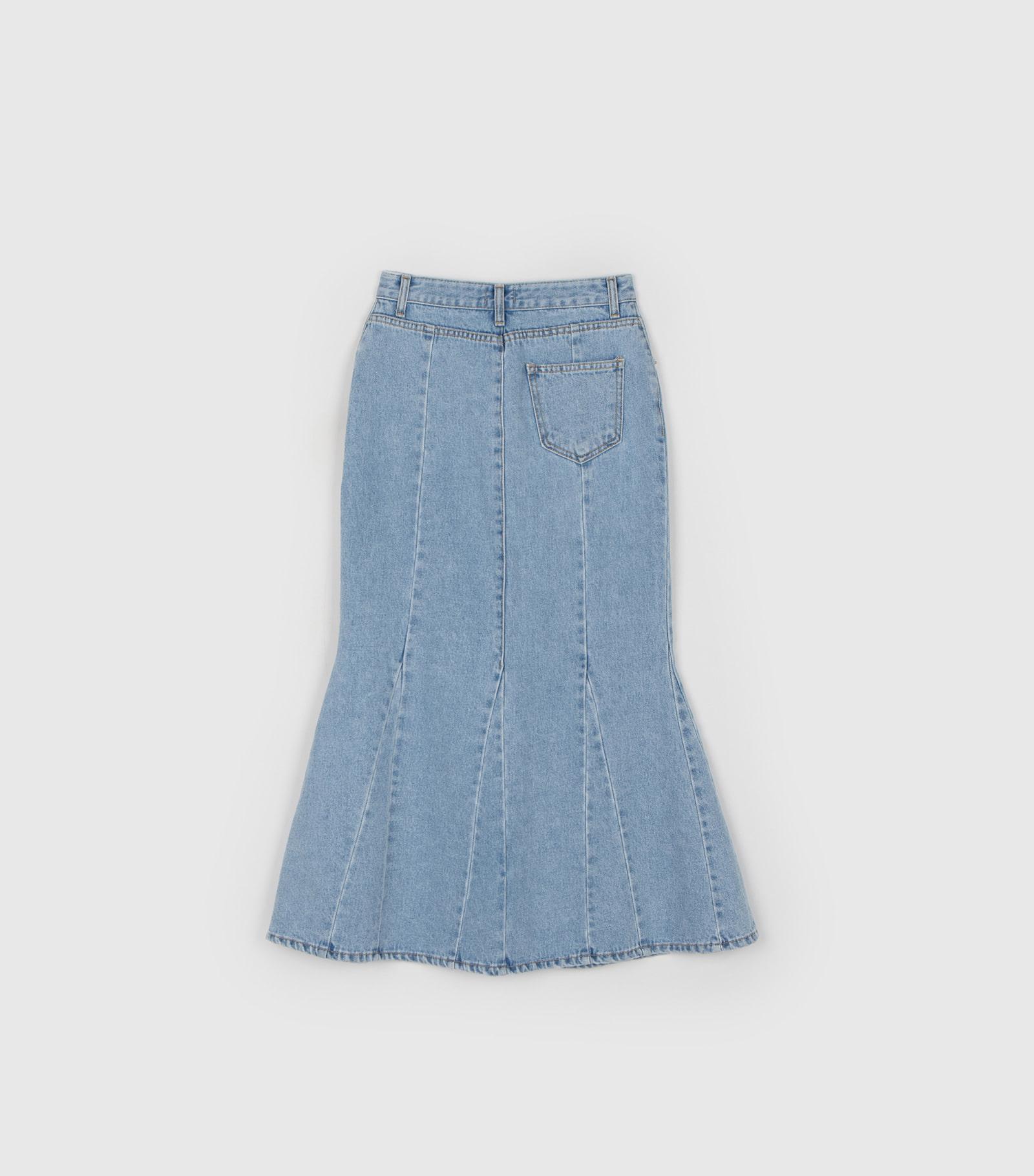 Chacha Mermaid Denim Maxi Skirt