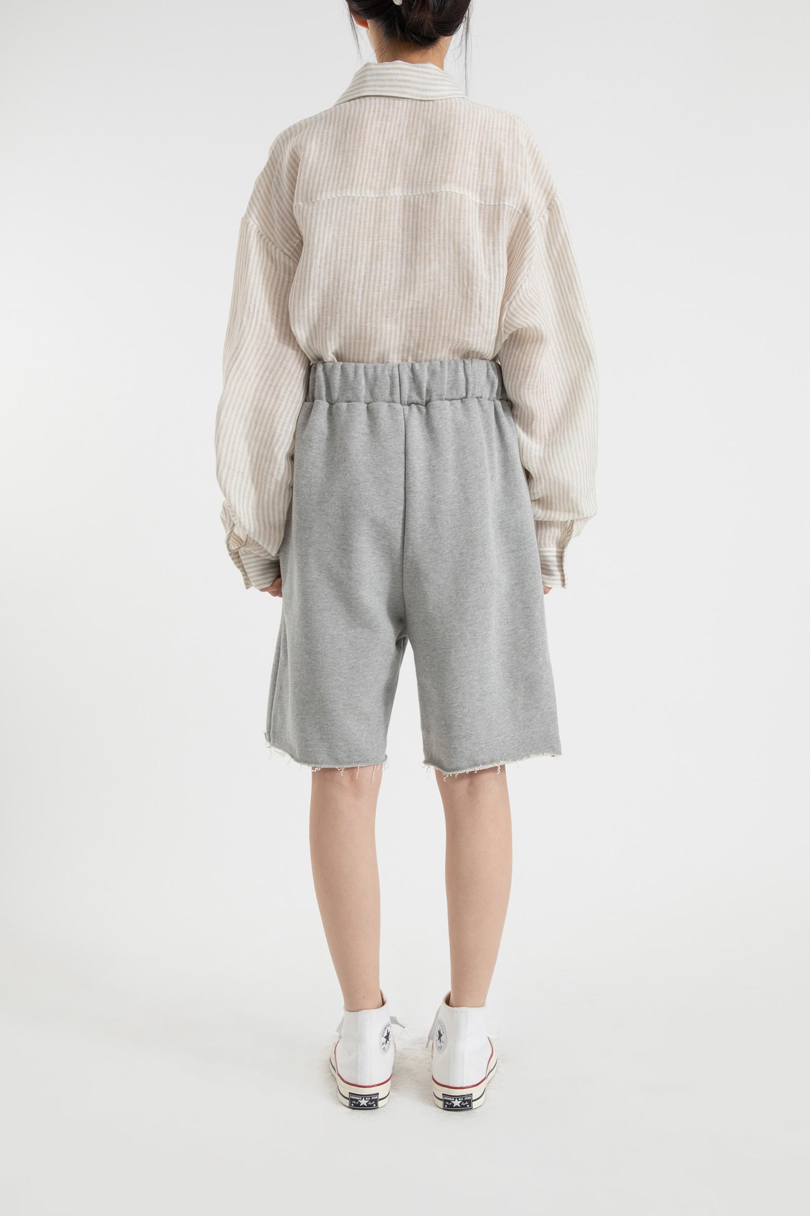 Natural training banding cotton shorts