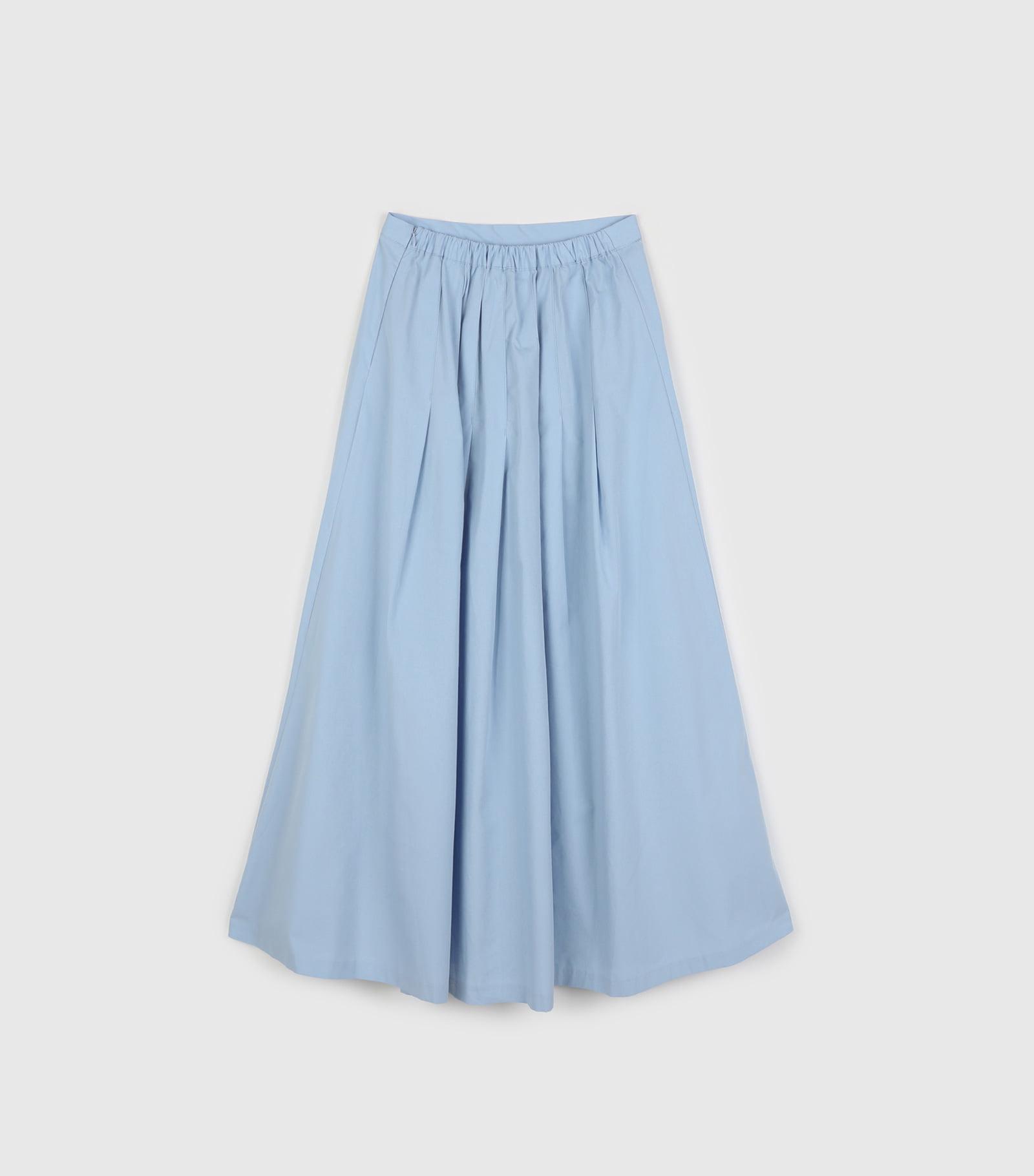 Easy cotton flare maxi skirt