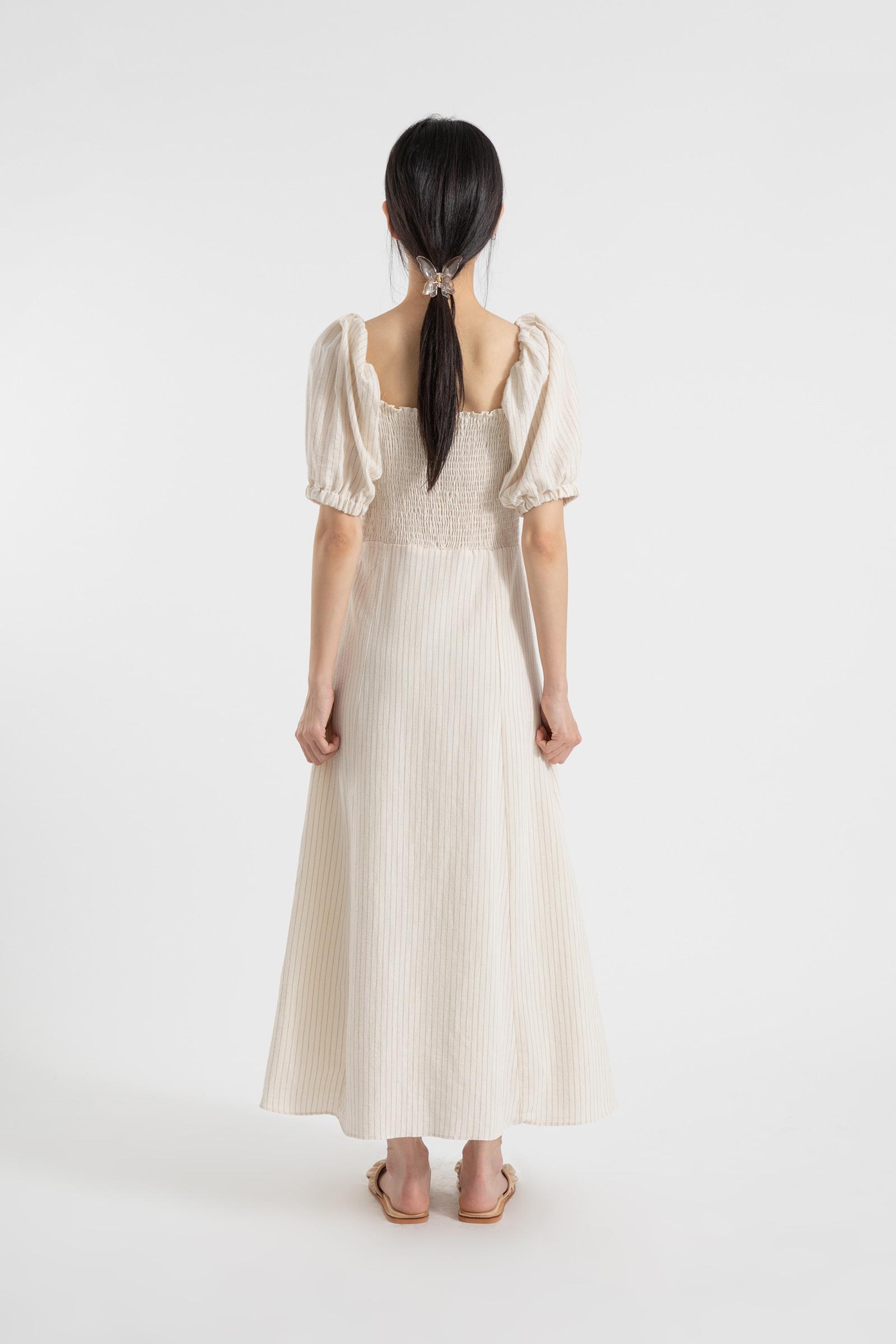 Striped smoke twist maxi dress