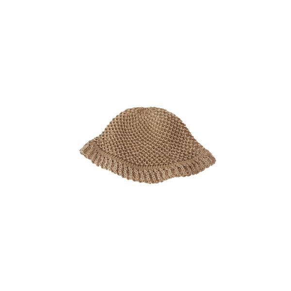 natural waffle bucket hat