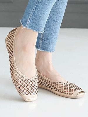 D-carb punching flat shoes 1cm
