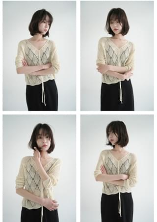 adorable pearl shirring knit