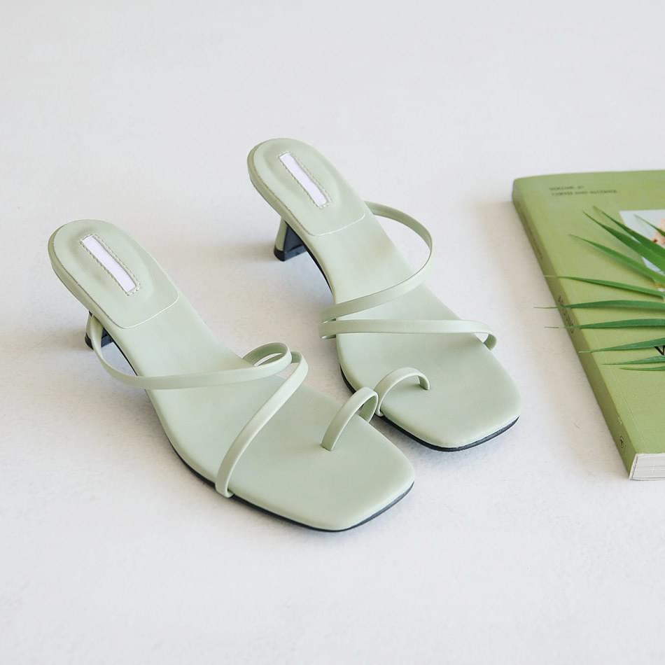 T-kaf thigh mule slippers 5 cm