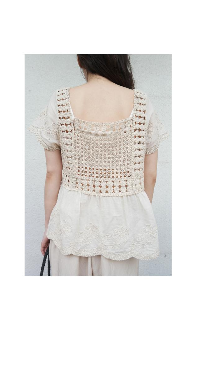 crochet affable blouse
