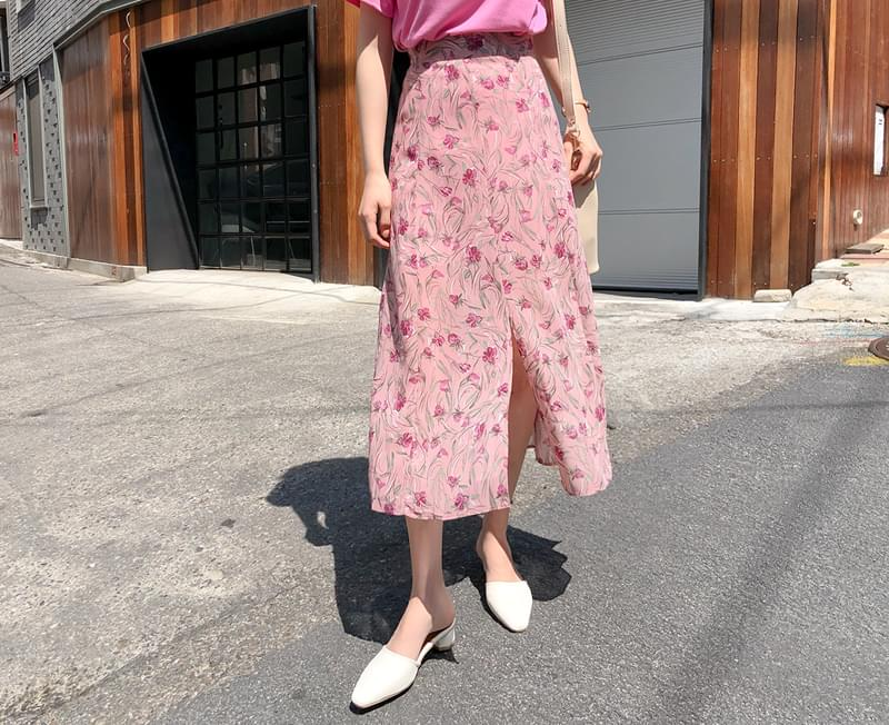 Rose Chiffon Bending Skirt