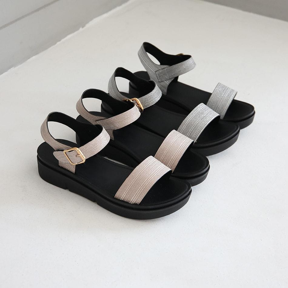 Lyttella Velcro Strap Sandals 3cm