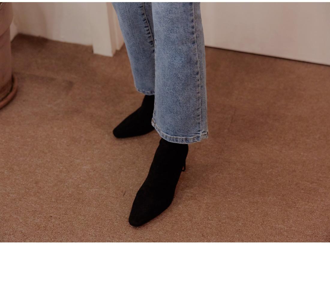 CLEAR SEMI BOOTS DENIM PANTS