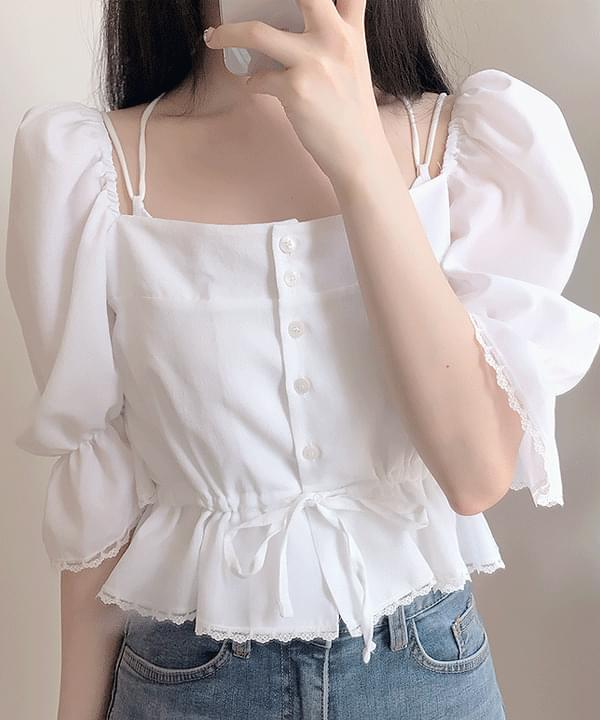 Tini lace puff blouse