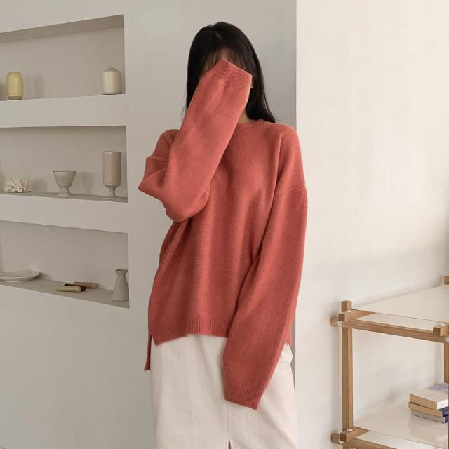 Unbalanced loose-fit knit