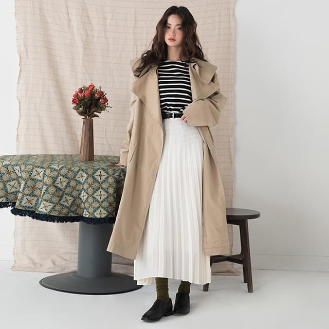 Big Cara Neck Loose Fit Trench Coat