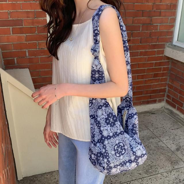Paisley zipper cotton bag