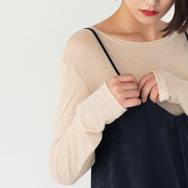 Boat Neck Slim Fit See Through