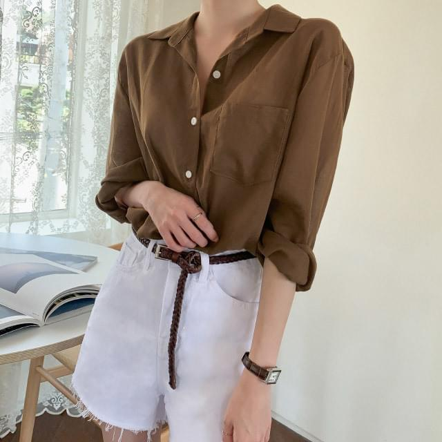 Daily Loose Fit Summer Cotton Shirt