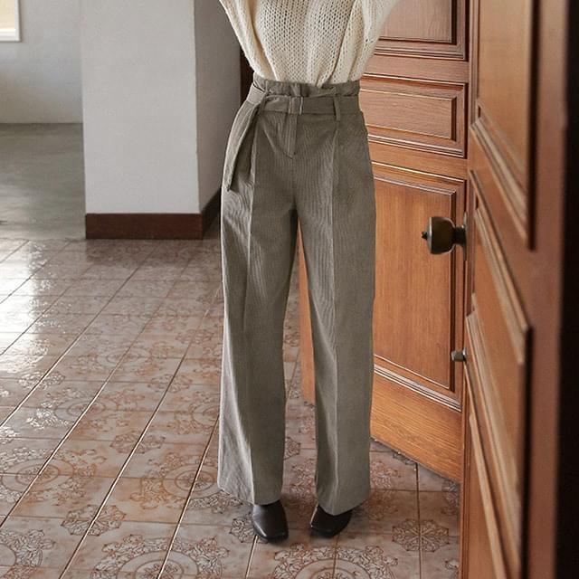 corduroy high-waist pants