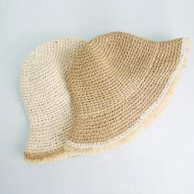 Vintage bucket straw hat