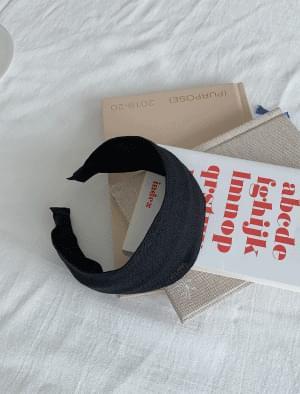Natural linen headband