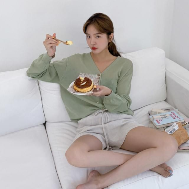 Yummy Fit V Neck Summer Linen Cardigan