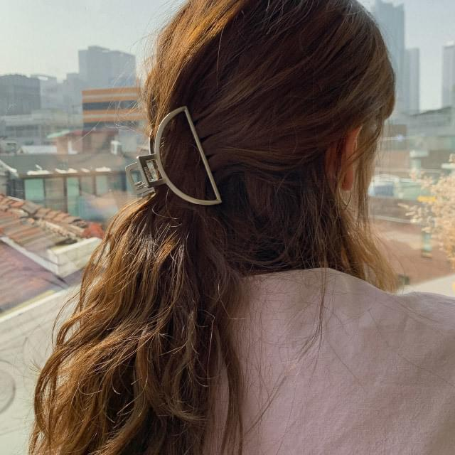 2 color metal hair clip