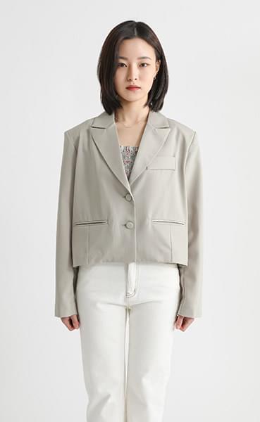 Mood satin crop single jacket