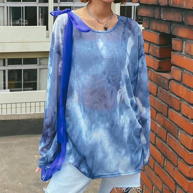 Tie-dye salt T-shirt