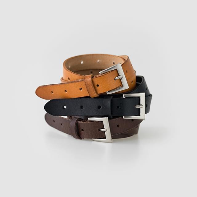 Square Buckle Cowhide Belt