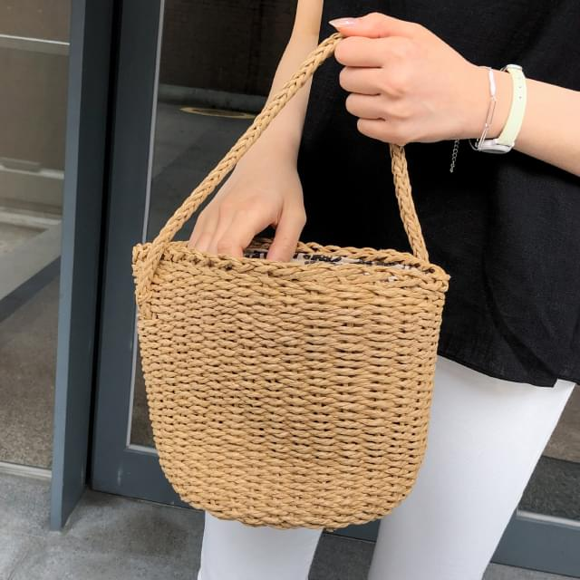 daily string rattan bag