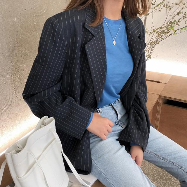Tailored striped jacket
